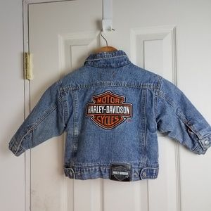 Harley Davidson Toddler 2T Denim Jean Jacket EUC